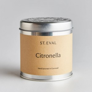 Citronella Scented Tin Candle