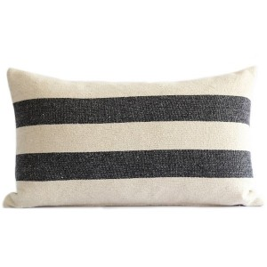 Black Stripe Linen Grain...