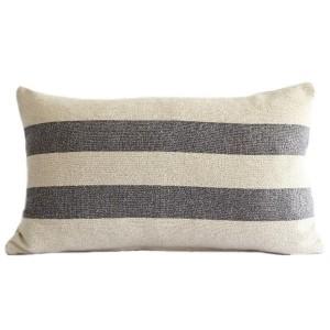 Grey Stripe Linen Grain...