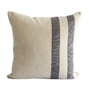 Soft Grey Stripe Linen Hemp...