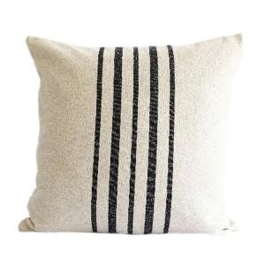 Black Stripes Linen Hemp...