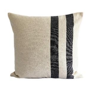 Black Stripe Linen Hemp...