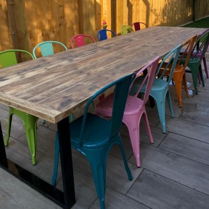 Reclaimed Garden Table with...