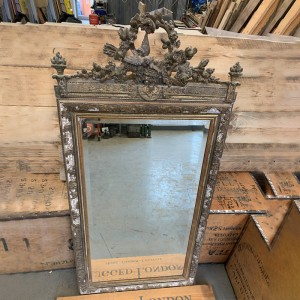 Large vintage guilt mirror