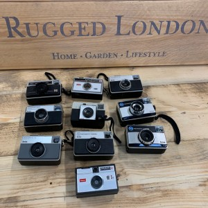 Set of 10 retro kodak cameras