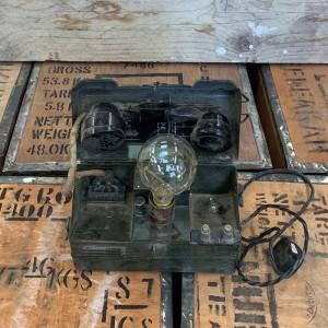 Ex army field telephone lamp