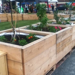 Square Wooden Planter -...