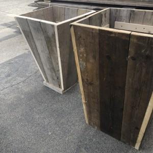 Vase Shaped Wooden Planter