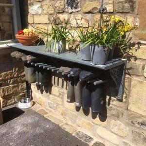 Outdoor boot rack - Garden...