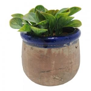 Plant Pot - Rustico Deep Blue