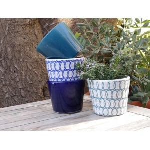 Plant Pot Peacock Blue -...