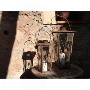 Lantern Casa Antique Rust -...