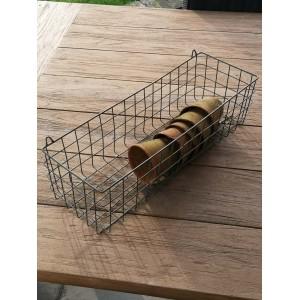 Wire Shelf Basket Oviedo Zinc