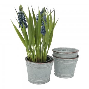 Zinc Plant Pot - Small 9.5x9cm